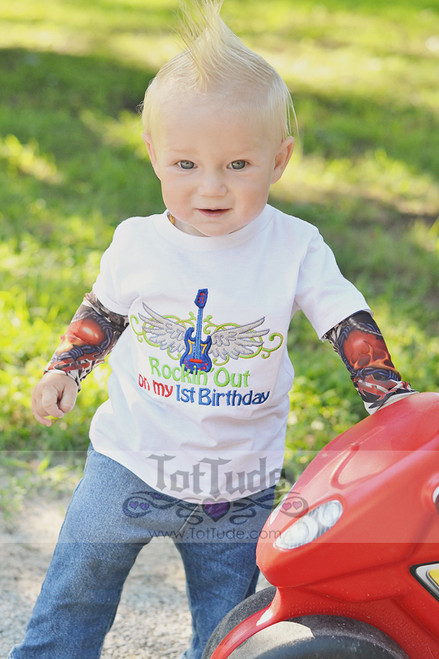 Rocker First Birthday Tattoo Sleeve Shirt
