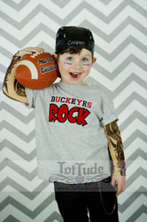 Sports Team Applique Shirt with Tattoo Sleeves