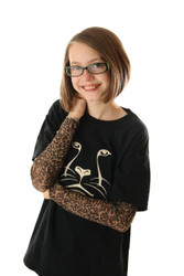 Leopard Print Tattoo Sleeve Shirt