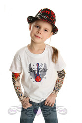 Rock Star Tattoo Sleeve Shirt