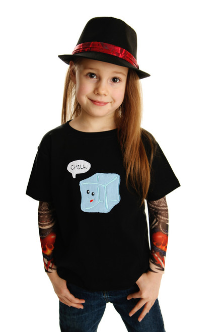 Chill Ice Cube Tattoo Sleeve Shirt
