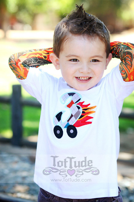 Third Birthday Toddler Tattoo Sleeve T Shirt