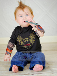 Love Heart Wings Tattoo Shirt