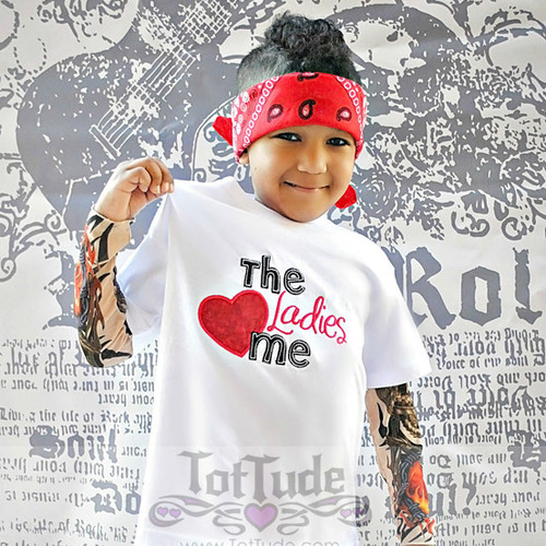 Ladies Love Me Valentine Tattoo Sleeve Shirt