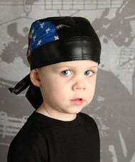 American Flag Personalized Faux Leather Do Rag