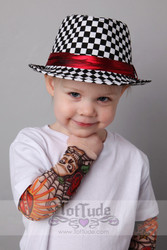 Toddler Checker Print Fedora Hat
