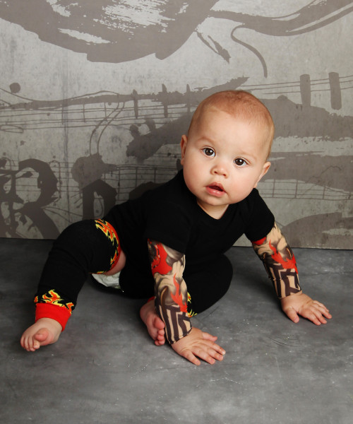 Flames Baby Leg Warmers