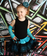 Blue and Black Lace Pettiskirt Set for Toddler Girls