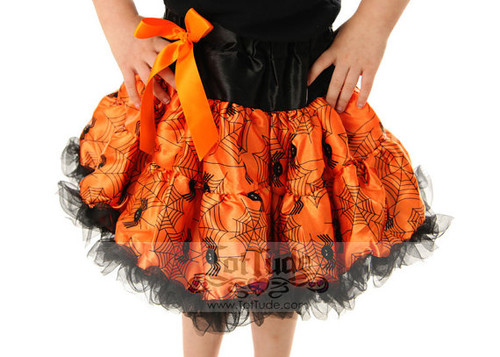 Halloween Pettiskirt Spiders and Webs