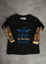 Lil Rebel 1st Birthday Tattoo Sleeve Shirt