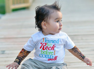 Rock Tattoo T shirt with Rockabilly Sleeves