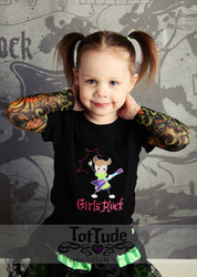 Girls Rock Tattoo Sleeve Shirt