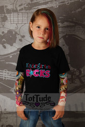 Kindergarten Rocks Girls Tattoo Sleeve T Shirt