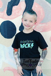Kindergarten Rocks Boys Tattoo Sleeve T Shirt