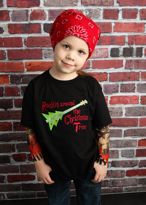 Rockin Around the Christmas Tree Tattoo Sleeve Shirt