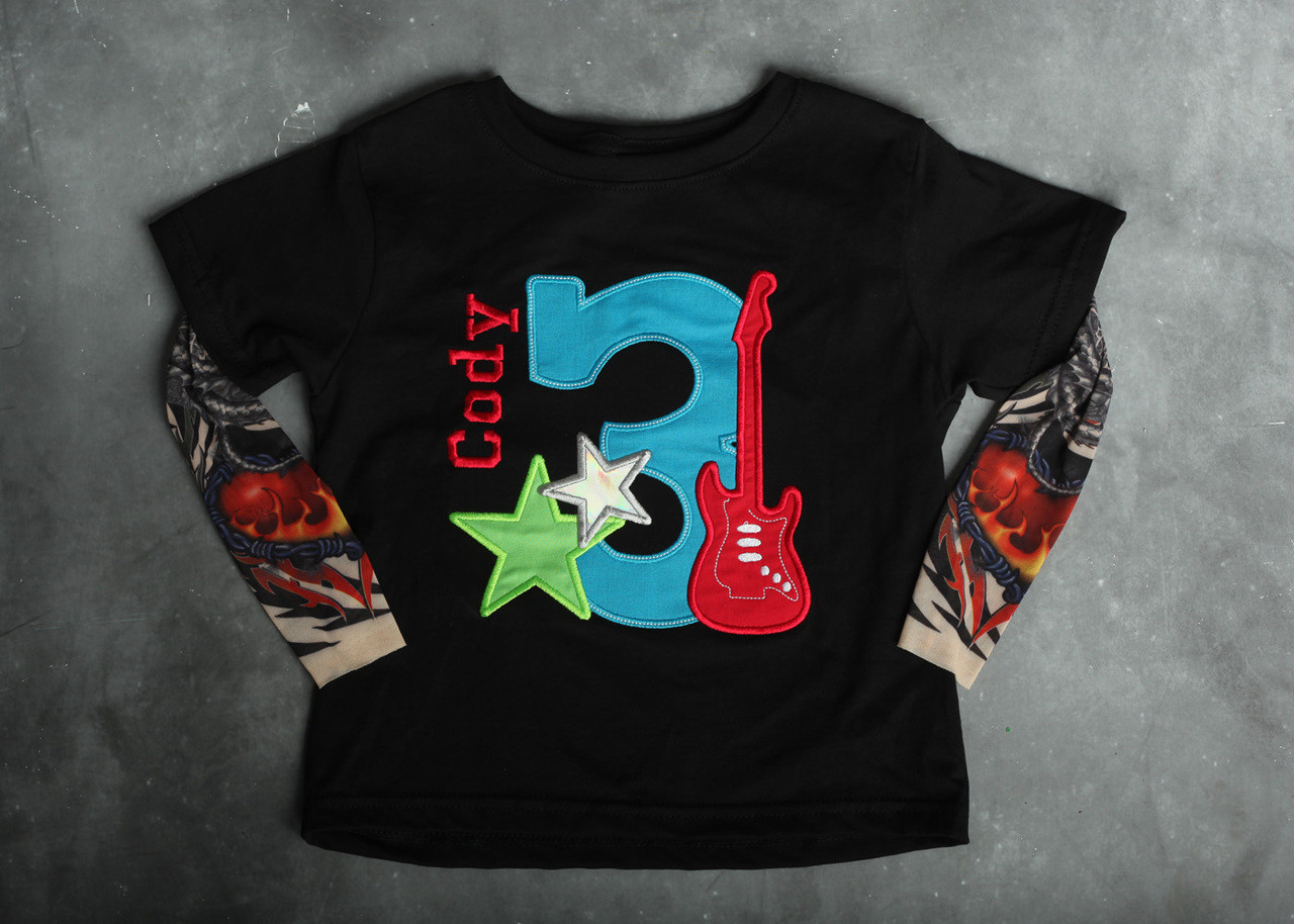 Rock Star Number Birthday Personalized Tattoo Sleeve Shirt.  35.00. Image  1. Image 2. See 1 more picture ab665d91f