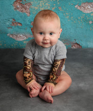 Biker baby tattoo sleeve shirt