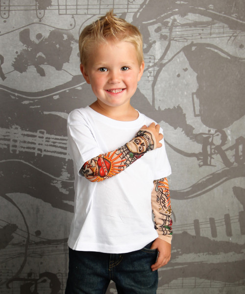 Rockabilly Skulls and Roses Tattoo Sleeve Shirt