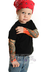 Flames tattoo sleeve shirt