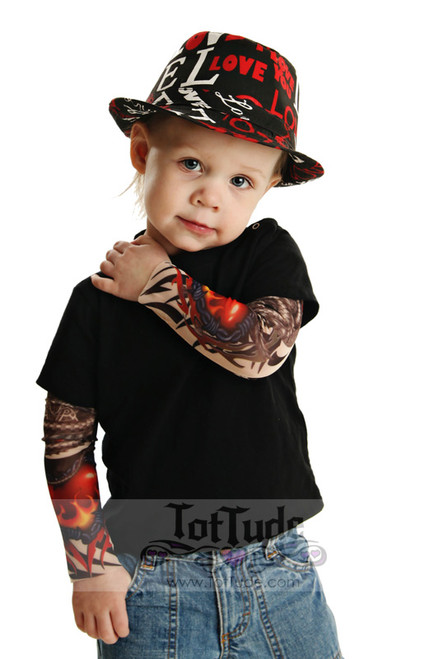 Toddler Barbed Wire Heart Tattoo Tee