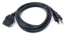 6-ft. Heavy Duty Power Cord (IEC-320-C19 to NEMA 5-15P) 14AWG