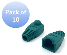 SNAGLESS CABLE BOOT CAT5 GREEN-10 PACK