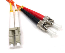 LC / ST Multimode Duplex 62.5/125 Fiber Optic Cable - 1 Meter
