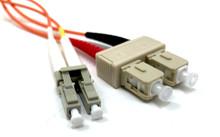 LC / SC Multimode Duplex 62.5/125 Fiber Optic Cable - 1 Meter