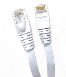 50ft FLAT CAT6 UTP CABLE-WHITE