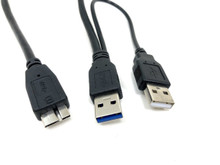 "USB 3.0 A Male to Micro B ""Y"" Cable"
