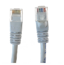 Category 5E UTP RJ45 Patch Cable White - 10 ft