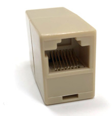Category 5 In Line RJ45 Coupler F/F - Beige