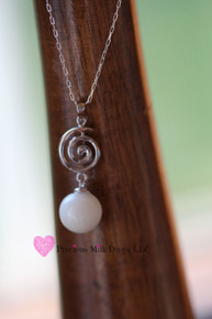 Giving and Receiving Spiral 10mm Milk Drop Sterling Silver