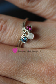 Stones of Love 3 Stone Ring