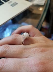 Gold Oval Infinity Halo Diamond Ring