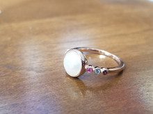 8mm stories of Love ring (6 side stones)