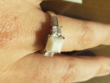 3 stone Princess Sterling silver  (Ring 30)