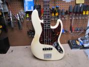 2012 Fender Jazz Bass Stack Knob Reissue 1962 62 AVRI RI American Made Olympic White