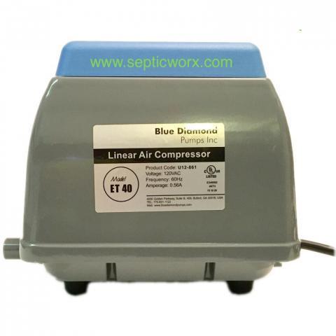 septic worx blue diamond et 40 septic air pump