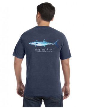 King Mackerel on Midnight Pocket T