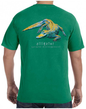 Alligator on Grass w/ Pocket