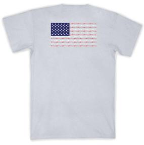 American Flag SS Tee- Light Grey