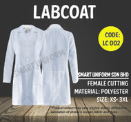Female Lab Coat Long Sleeve