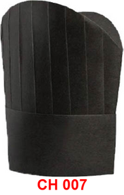 Paper Tall Chef Hat (Black )