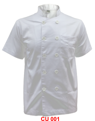 Chef Jacket Plain White(Normal Cutting)