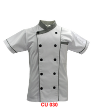White Jacket  With Checker Piping Two Lines(Young Cutting)