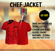 Red Jacket With Black Piping 2 Lines  (Young Cutting)-CU037