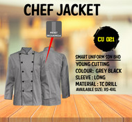 Gray Jacket With Black Piping 2 Lines (Young Cutting)-CU021