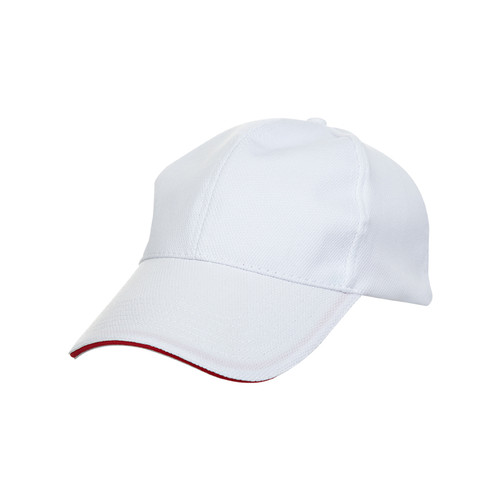 Ready Stock Base Ball Cap White ( S/ Red )  CP 0900