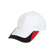 Ready Stock Base Ball Cap White ( S/ Red+Black )  CP 1700